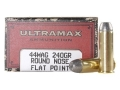 Product detail of Ultramax Cowboy Action Ammunition 44 Remington Magnum 240 Grain Lead Flat Nose Box of 50