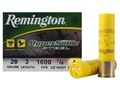 "Product detail of Remington HyperSonic Ammunition 20 Gauge 3"" 7/8 oz #4 Non-Toxic Shot Box of 25"