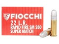 Product detail of Fiocchi Exacta Rapid Fire Pistol Super Match Ammunition 22 Long Rifle 40 Grain Round Nose Box of 50