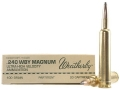 Product detail of Weatherby Ammunition 240 Weatherby Magnum 100 Grain Nosler Partition Box of 20