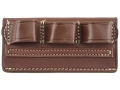 Product detail of Triple K 736 Cowboy Competition Belt Slide Shotshell Ammunition Carrier 6-Round 12 Gauge Leather Brown