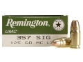 Thumbnail Image: Product detail of Remington UMC Ammunition 357 Sig 125 Grain Full M...