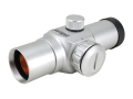 Product detail of Millett Red Dot Sight 30mm Tube 1x 5 MOA Dot with Weaver-Style Rings Silver