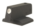 "Product detail of Novak Front Sight 1911 Novak Cut .075"" Depth .225"" Height .125"" Width Steel Blue White Dot"