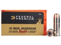 Product detail of Federal Premium Vital-Shok Ammunition 41 Remington Magnum 210 Grain Swift A-Frame Jacketed Hollow Point Box of 20