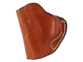 Product detail of DeSantis Mini Scabbard Outside the Waistband Holster Left Hand Ruger LCP Leather Tan