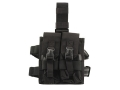 Product detail of BlackHawk Omega Elite Enhanced Magazine Drop Leg Pouch AR-15 Holds 4 Magazines Nylon Black