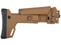 Product detail of Bushmaster Enhanced 7-Position Telescoping Side Folding Buttstock Bushmaster ACR Synthetic Coyote Brown