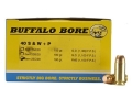 Product detail of Buffalo Bore Ammunition 40 S&W +P 180 Grain Full Metal Jacket Box of 20