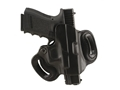 Product detail of DeSantis Mini Slide Belt Holster Right Hand Glock 17, 19, 22, 23, 26, 27, 31, 32, 33, 36 Leather Black