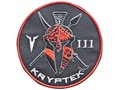 Product detail of Kryptek Embroidered Unit Patch Hook-&-Loop Fastener Black