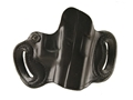 Product detail of DeSantis Mini Slide Belt Holster Right Hand Glock 20, 21, 29, 30, 39 S&W M&P Leather Black