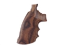 Product detail of Hogue Fancy Hardwood Grips with Finger Grooves Colt Trooper Mark III Checkered