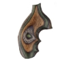 Product detail of Hogue Fancy Hardwood Grips with Finger Grooves Taurus Small Frame