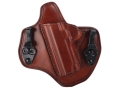Product detail of Bianchi Allusion Series 135 Suppression Tuckable Inside the Waistband Holster Left Hand 1911 Leather Tan