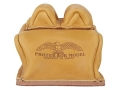 Product detail of Protektor Custom Bunny Ear Rear Shooting Rest Bag with Heavy Bottom Leather Tan Unfilled