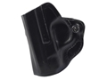 Product detail of DeSantis Mini Scabbard Outside the Waistband Holster Left Hand Smith & Wesson M&P Shield Leather Black