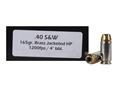 Thumbnail Image: Product detail of Doubletap Ammunition 40 S&W 165 Grain Brass Jacke...