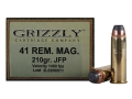 Product detail of Grizzly Ammunition 41 Remington Magnum 210 Grain Jacketed Soft Point Box of 20