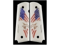 Product detail of Hogue Grips 1911 Government, Commander Ivory Polymer Eagle with Flag Pattern