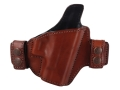 Product detail of Bianchi Allusion Series 125 Consent Outside the Waistband Holster Right Hand Glock 26, 27, 33 Leather Tan
