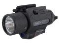 Product detail of Insight Tech Gear M6X Tactical Illuminator Flashlight with Laser Halogen Bulb  fits Glock-Style Rails Polymer Black