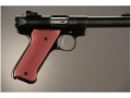 Product detail of Hogue Extreme Series Grip Ruger Mark II, Mark III Checkered Aluminum Matte Red