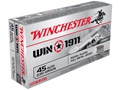 Product detail of Winchester Win1911 Ammunition 45 ACP 230 Grain Full Metal Jacket
