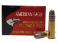 Product detail of Federal American Eagle Ammunition 22 Long Rifle High Velocity 40 Grain Lead Round Nose