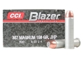 Product detail of CCI Blazer Ammunition 357 Magnum 158 Grain Jacketed Hollow Point Box of 50