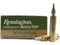 Product detail of Remington Premier Varmint Ammunition 223 Remington 50 Grain AccuTip Boat Tail Box of 20
