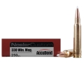 Product detail of Nosler Trophy Grade Ammunition 338 Winchester Magnum 250 Grain AccuBo...