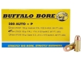 Product detail of Buffalo Bore Ammunition 380 ACP +P 95 Grain Full Metal Jacket Box of 20