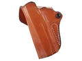Product detail of DeSantis Mini Scabbard Outside the Waistband Holster Left Hand 1911 Commander Leather Tan