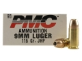 Product detail of PMC Bronze Ammunition 9mm Luger 115 Grain Jacketed Hollow Point Box of 50