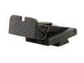 Product detail of Kensight Adjustable Rear Sight 1911 Bo-Mar Cut Steel Black Rounded Blade Fully Serrated