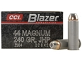 Product detail of CCI Blazer Ammunition 44 Remington Magnum 240 Grain Jacketed Hollow Point Box of 50