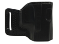 Product detail of DeSantis L-GAT Outside the Waistband Slide Holster Right Hand Glock 17, 19, 22, 23, 26, 27, 33, 34, 35 Leather Black