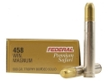 Product detail of Federal Premium Cape-Shok Ammunition 458 Winchester Magnum 500 Grain Speer Trophy Bonded Sledgehammer Box of 20