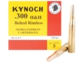 Product detail of Kynoch Ammunition 300 H&H Magnum 220 Grain Woodleigh Welded Core Solid Box of 5