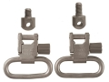 "Product detail of Uncle Mike's Quick Detachable Sling Swivel Set Ruger Semi-Automatic, Single Shot Carbine 1"" Nickel Plated"