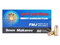 Thumbnail Image: Product detail of Prvi Partizan Ammunition 9x18mm (9mm Makarov) 93 ...