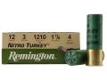 "Product detail of Remington Nitro Turkey Ammunition 12 Gauge 3"" 1-7/8 oz of #4 Buffered Shot Box of 10"