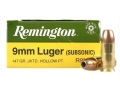 Product detail of Remington Express Ammunition 9mm Luger 147 Grain Jacketed Hollow Point Box of 50