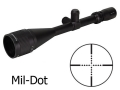 Product detail of Brunton NRA Sports Optics Target Series Rifle Scope 6-24x 50mm Adjustable Objective Mil-Dot Reticle Matte