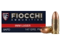 Product detail of Fiocchi Shooting Dynamics Ammunition 9mm Luger 147 Grain Full Metal Jacket Box of 50