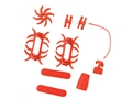 Product detail of PSE Colored Rubber Accessories Package