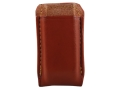 Product detail of Gould & Goodrich Single Magazine Pouch Double Stack Glock Magazine Leather Brown