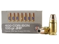 Product detail of Cor-Bon Self-Defense Ammunition 400 Cor-Bon 135 Grain Jacketed Hollow Point Box of 20