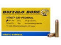 Product detail of Buffalo Bore Ammunition 327 Federal Magnum 100 Grain Jacketed Hollow Point Box of 20